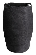 Jute laundry basket - Black - Home All | H&M CN 1