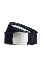Reversible webbing belt - Blue/White striped - Men | H&M 2