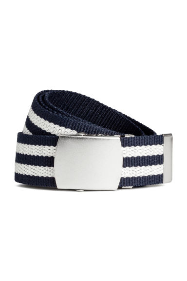Reversible webbing belt - Blue/White striped - Men | H&M 1