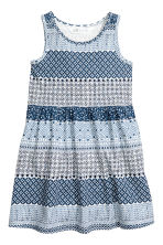 Patterned jersey dress - Blue/White -  | H&M 2