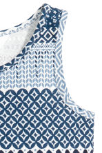 Patterned jersey dress - Blue/White -  | H&M 3