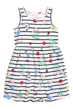 Patterned jersey dress - White/Strawberries -  | H&M 2