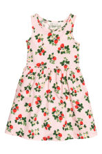 Patterned jersey dress - Light pink/Strawberries - Kids | H&M CN 2