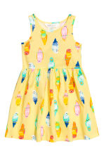 Patterned jersey dress - Yellow/Birds - Kids | H&M 2