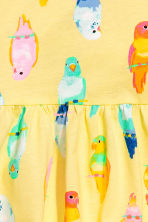 Patterned jersey dress - Yellow/Birds - Kids | H&M 3
