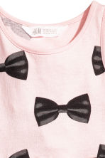 Patterned jersey dress - Light pink/Bows - Kids | H&M 2