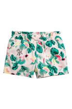 Jersey shorts - Light pink/Leaf - Kids | H&M CN 1