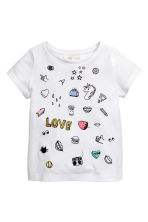 Printed top - White/Unicorn - Kids | H&M 2