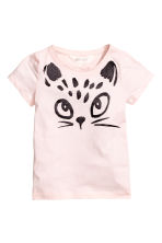 Printed top - Light pink - Kids | H&M 2