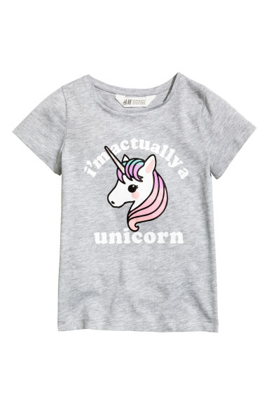 Printed top - Grey - Kids | H&M 1