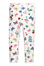Treggings - White/Strawberries - Kids | H&M 2