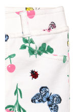 Treggings - White/Strawberries - Kids | H&M CN 3