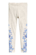 Printed leggings - Light grey/Butterflies - Kids | H&M 1