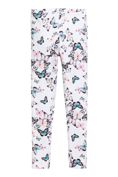 Printed leggings - Natural white -  | H&M 1