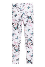 Printed leggings - Natural white - Kids | H&M 1