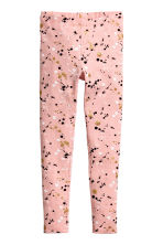 Printed leggings - Light pink - Kids | H&M CN 1
