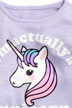 Jumper with a print motif - Purple/Unicorn -  | H&M 3