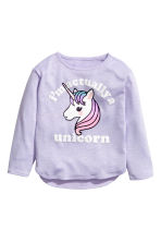 Jumper with a print motif - Purple/Unicorn -  | H&M 2