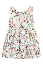 Patterned cotton dress - White/Butterflies - Kids | H&M CN 2