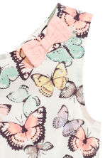 Patterned cotton dress - White/Butterflies - Kids | H&M CN 3