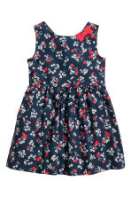 Patterned cotton dress - Dark blue/Strawberries - Kids | H&M 2