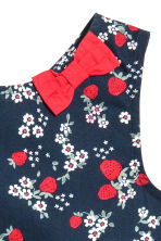 Patterned cotton dress - Dark blue/Strawberries - Kids | H&M 3