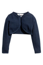 Fine-knit bolero cardigan - Dark blue - Kids | H&M CN 2