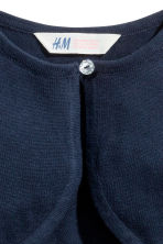 Fine-knit bolero cardigan - Dark blue - Kids | H&M CN 3