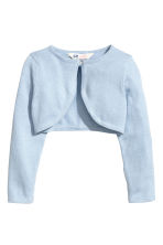 Fine-knit bolero cardigan - Light blue - Kids | H&M CN 2