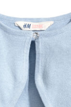 Fine-knit bolero cardigan - Light blue - Kids | H&M CN 3