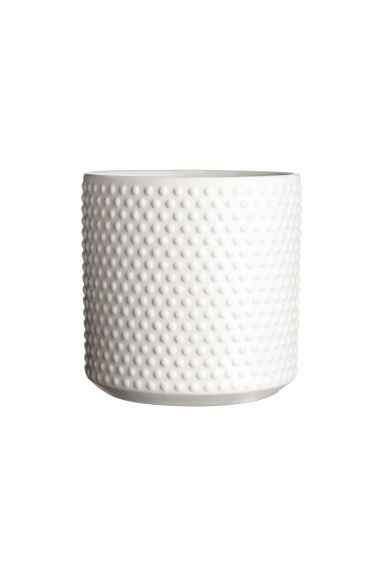 Portavaso in gres - Bianco - HOME | H&M IT 1