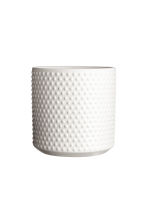 Stoneware plant pot - White - Home All | H&M CN 1