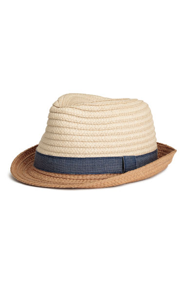 Chapeau de paille - Naturel - ENFANT | H&M BE