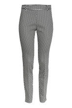 Cigarette trousers - Black/White/Patterned - Ladies | H&M CN 2
