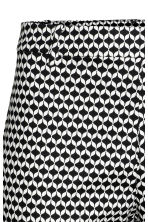 Cigarette trousers - Black/White/Patterned - Ladies | H&M CN 3