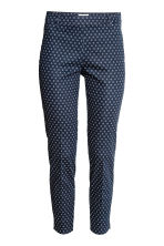 Cigarette trousers - Dark blue/Patterned - Ladies | H&M 2