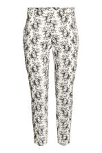 Cigarette trousers - White/Patterned - Ladies | H&M 2