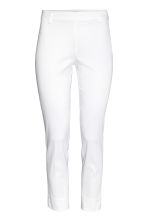 Cigarette trousers - White - Ladies | H&M CA 2