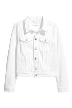 Denim jacket - White denim - Ladies | H&M 2