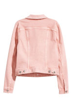 Denim jacket - Light pink - Ladies | H&M CN 3