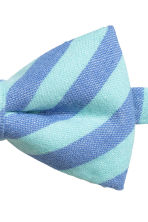 Striped bow tie - Blue/Mint green - Kids | H&M CN 2