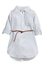 Shirt dress - Blue/White/Striped - Kids | H&M CN 2