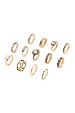 11-pack rings - Gold - Ladies | H&M 2
