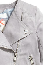 Biker jacket - Light grey - Kids | H&M GB 3