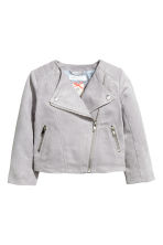 Biker jacket - Light grey - Kids | H&M GB 2