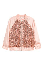 Sequined bomber jacket - Powder pink - Kids | H&M 2