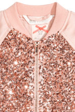 Sequined bomber jacket - Powder pink - Kids | H&M 3