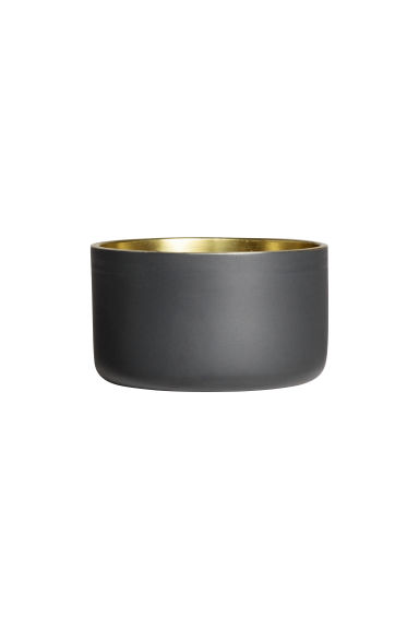 Small metal tealight holder - Anthracite grey - Home All | H&M CN 1