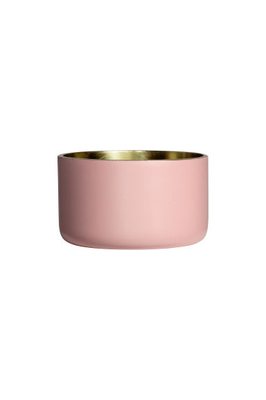 Small metal tealight holder - Dusky pink - Home All | H&M CN 1