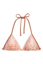 Triangle bikini top - Rust/White - Ladies | H&M CN 2